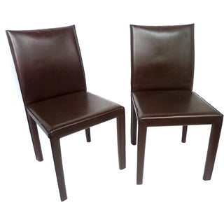 Bellini-Style Leather Side Chairs - A Pair