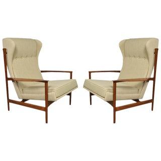 Pair of Ib Kofod-Larsen Wingback Lounge Chairs
