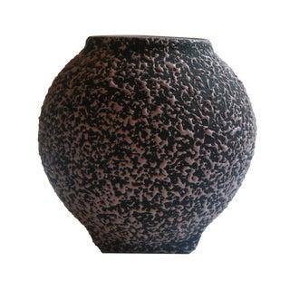 Vintage Kenwood Pink and Black Confetti Vase