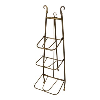 Circa 1905 Edwardian Brass Three Tiered Easel