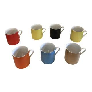 Mid-Century Modern China Coffee Mugs - Set of 7
