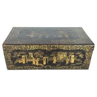 19th Century English Paper Mache Box