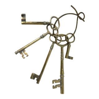 English Brass Keys- Set of 5