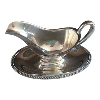 Vintage Silverplate Gravy Bowl