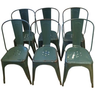 Vintage Tolix French Cafe Chairs - 6