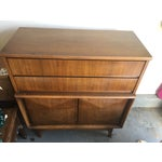 Image of Mid-Century Modern Diamond Front High Boy Dresser
