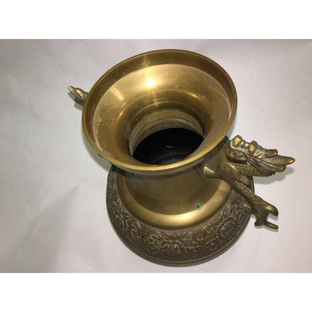 Dragons Handle Brass Vase - Image 7 of 7