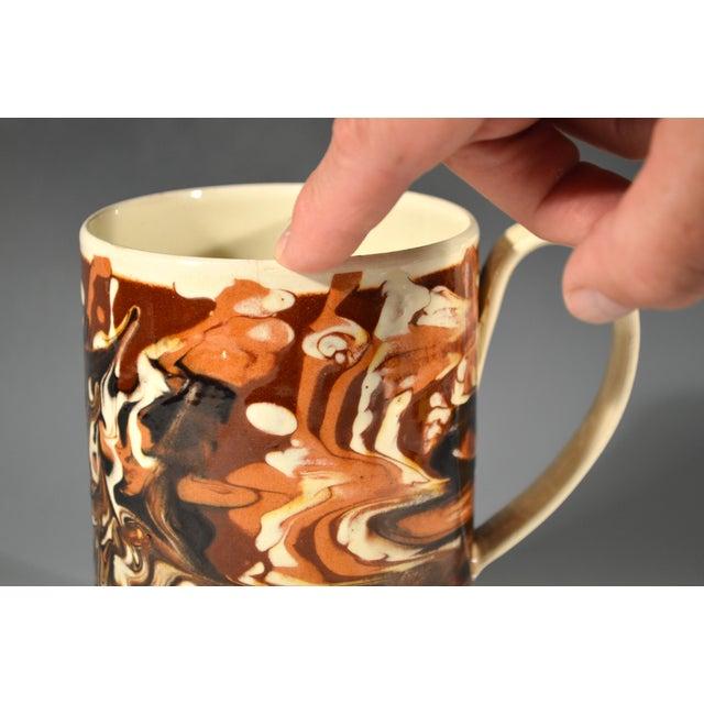 Marbled Creamware Mocha Pottery Tankard. - Image 6 of 6