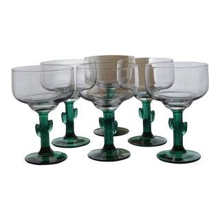 Vintage Libbey Cactus Glasses - Set of 6