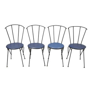 Mid-Century Modern Brutalist Iron Rebar Dining Chairs - Set of 4