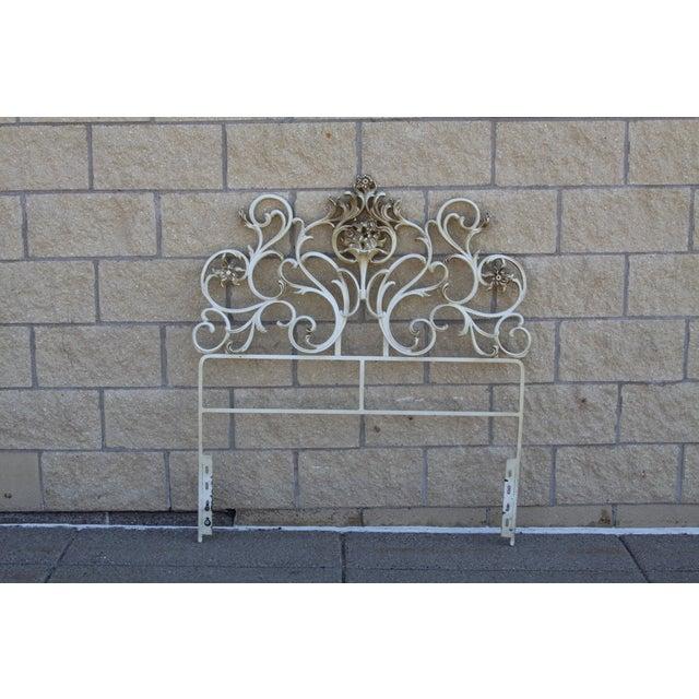 Metal Scroll Twin Headboard - Image 2 of 8