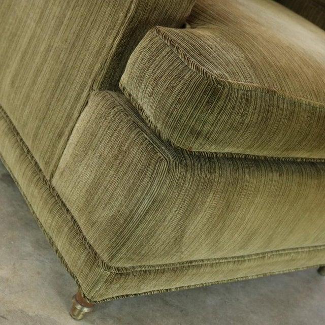 Deep Green Velvet Lawson Style Vintage Club Chair Mid Century Modern - Image 10 of 11