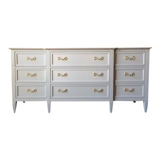 Drexel Light Grey Hollywood Regency Dresser