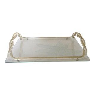 Dorothy Thorpe Glass Tray