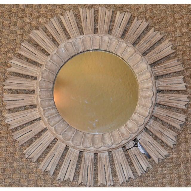 Arteriors Home Hand Carved Sunburst Mirror - Image 8 of 8