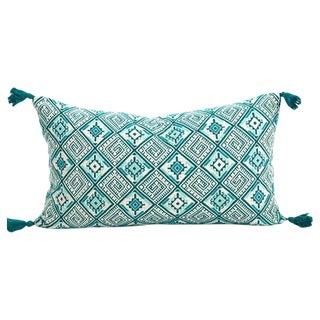 Guatemalan Emerald Handwoven Pillow