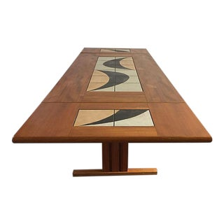 Wood & Tiles Danish Dining Table
