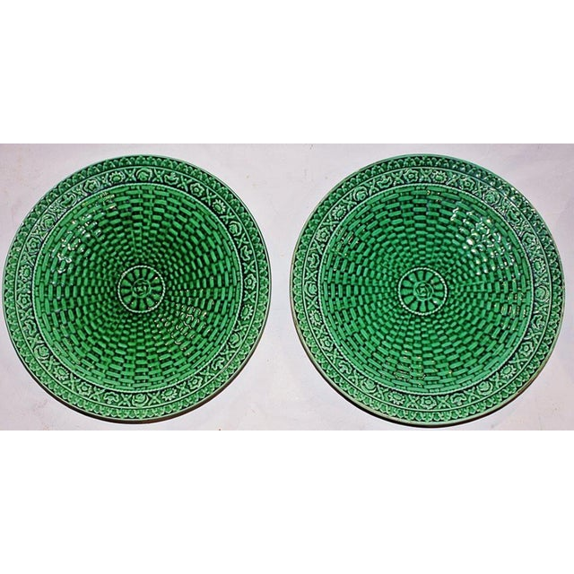 Majoilica Weave Plates - Pair - Image 2 of 7