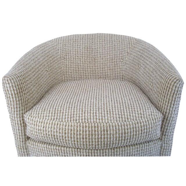 Mid Century Modern Selig Monroe Swivel Club Chair Chairish
