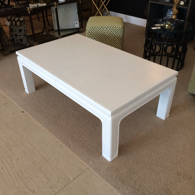 White Coffee Table Near Me: Karl Springer Style Coffee Table