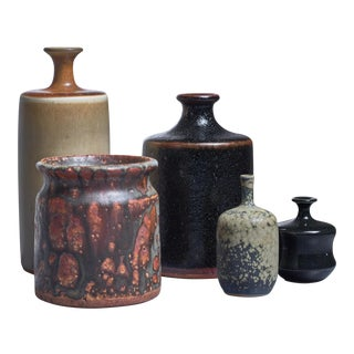Rolf Palm set of five ceramic pieces, Sweden, 1970s