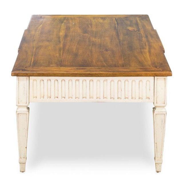Sarreid Ltd Walnut & Oak Cocktail Table - Image 6 of 6