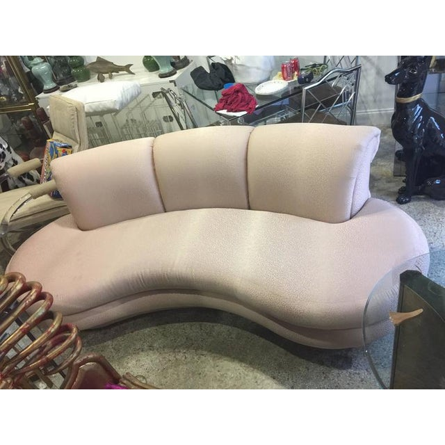 Vintage Adrian Pearsall Kidney Cloud Curved Sofas - Pair Available - Image 4 of 8