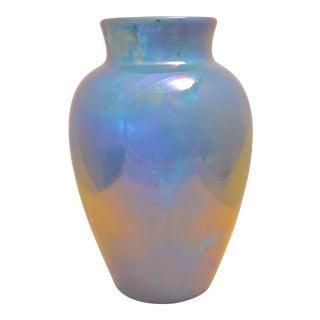 1920s Delft Blue Lusterware Vase