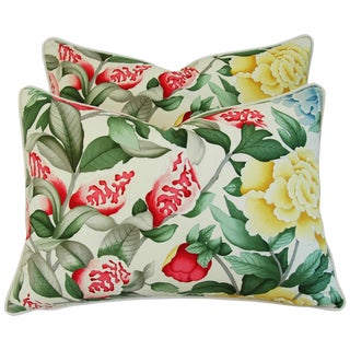 Brunschwig & Fils Lahore Peony Pillows - Pair