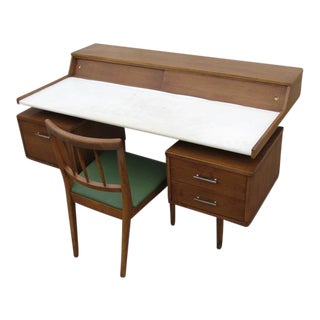 Vintage Drexel Biscayne Floating Desk & Chair