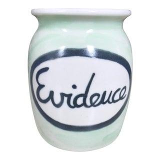 Vintage Porcelain Evidence Jar