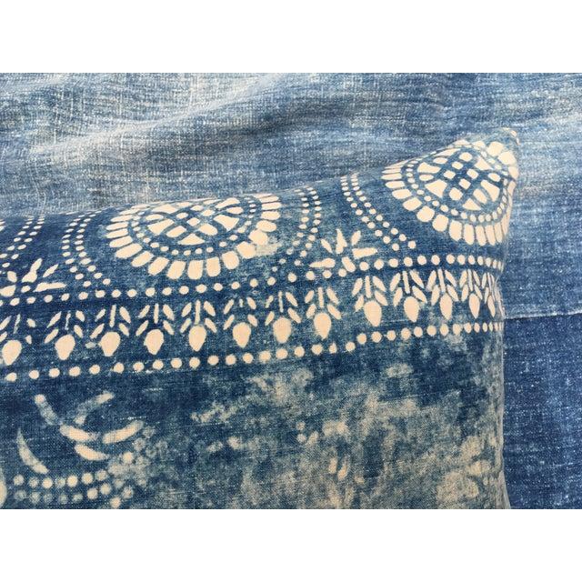 Antique Bleached Batik Pillow - Image 4 of 7