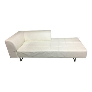 Poltrona Frau Quadra White Leather Chaise