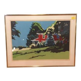 Original Jon Carsman Summer Red Artist Proof Silkscreen