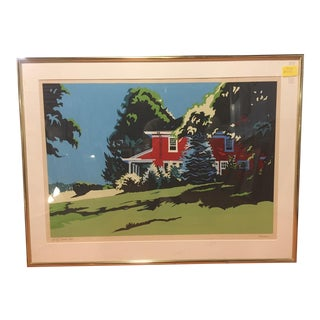 Original Jon Carsman Summer Red Artist Proof Silkscreen