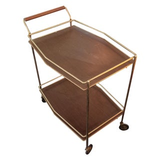 Mid Century Modern Brass Bar Cart