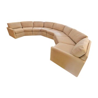 Milo Baughman Inspired Circular Sectional Sofa