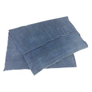 African Indigo Shibori Mud Cloth Throw