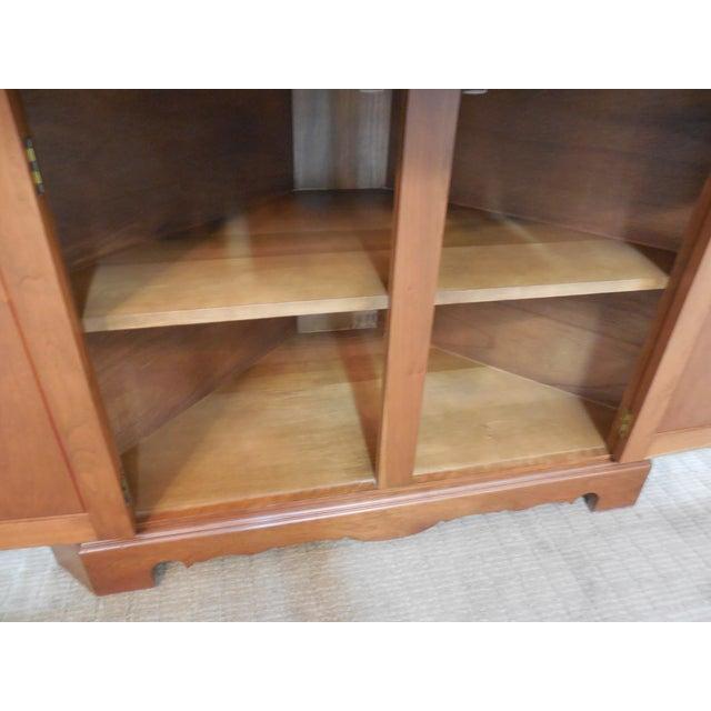 Vintage Custom Solid Cherry Corner Cabinet - Image 5 of 10