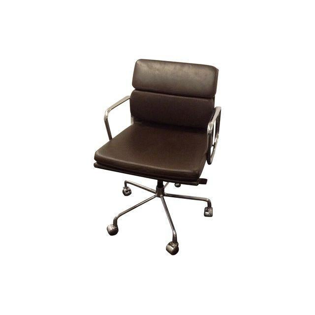 Eames Style Soft Pad Executive Leather Chair Chairish