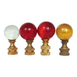 Round Lamp Finials - Set of 4
