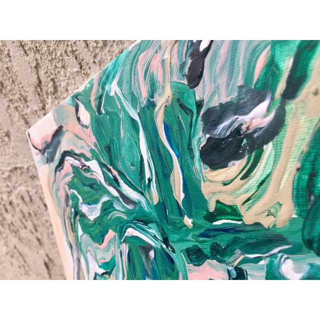 """""""Marbled Thoughts"""" Original Abstract Painting - Image 4 of 5"""