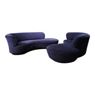 Vladmir Kagan for Directional Serpentine Sofas - A Pair