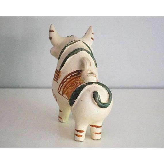 Vintage Peruvian Pottery Bull, Terra Cotta Torito De Pucara - Image 7 of 8