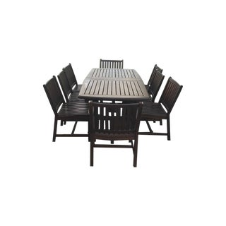 Contempary Brown Outdoor Dining Set