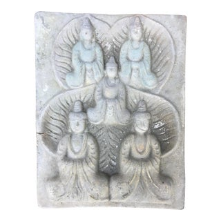 Terra Cotta Buddha Relief Tile
