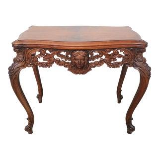 Vintage Carved Angel Side Table