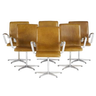 Arne Jacobsen Leather Oxford Chairs - Set of 6