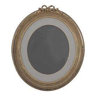 Vintage Neoclassical Style Oval Gilded Mirror