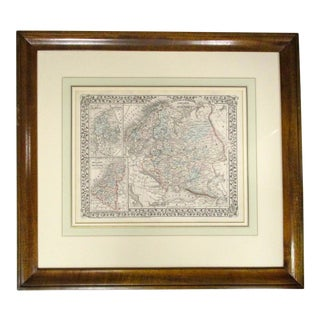 Antique Map of Russia, Sweden, Norway